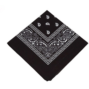 Black Bandana Opaque Cloth Cover - Fast Shipping ...