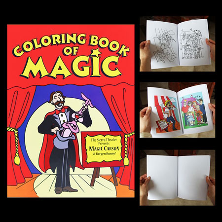 make the pages of a coloring book seem to color themselves - Coloring Book Magic Trick