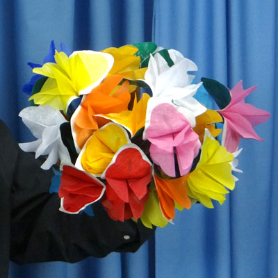 Large bouquet of paper spring flowers fast shipping magictricks mightylinksfo