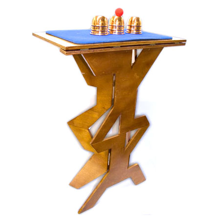 Quick Folding Wood Magicians Table With Zig Zag Design   Fast Shipping |  MagicTricks.com