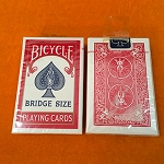*CLOSEOUT* Vintage BRIDGE SIZE Bicycle Rider Card Deck - SEALED RED