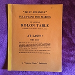 Full Plans for ROLON TABLE (Supreme Magic) - USED BOOK
