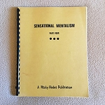 SOLD Sensational Mentalism Part Four (Various) - USED BOOK