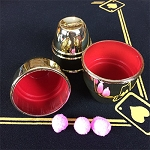 Flash Mold Cups and Balls Set - Gold Plastic