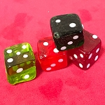 Four Murano Glass Dice *PREOWNED*