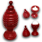 Golf Ball and Silk Vase - RED