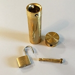 SOLD Brass Locking Bill Tube PREOWNED