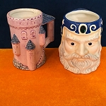 Wizard and Castle Ceramic Mugs *PREOWNED*