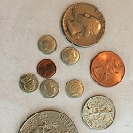 SOLD Set of Five Mini Coins *PREOWNED*