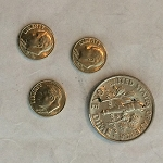 Set of Three Mini Dimes - PREOWNED