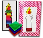 Rainbow Candle Card