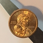 Magnetic Sacajawea Dollar Coin *PREOWNED*