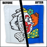 Happy Clown Silk Coloring Set