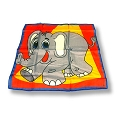 Silk- Happy Elephant 18-Inch