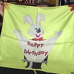 Silk- Happy Birthday Rabbit 24-Inch