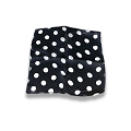 Silk- Black With White Dots 9-Inch