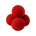 Sponge Balls- 2 Inch RED Set of 4