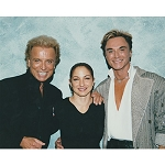 Siegfried and Roy Photo with Gloria Estefan
