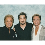 Siegfried and Roy Photo with Joey Fatone