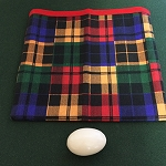 Tarbell Style Plaid Egg Bag With Egg - PREOWNED