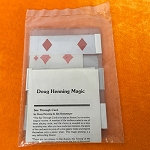 Tenyo T-77 Doug Henning See Through Card *PREOWNED*