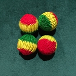 TriColor KNIT Balls- Set of 4