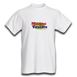 MagicTricks.com Logo T-Shirt (LARGE WHITE)