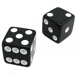 BLACK Victory Dice + ONLINE VIDEO