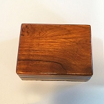 SOLD Wood Magnetic Card Box PREOWNED