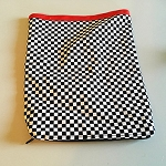 SOLD Checker Zipper Egg Bag