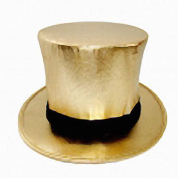 Gold Top Hat - Collapsible with Load Chamber - Magicians Tophat ... 5c566246b61