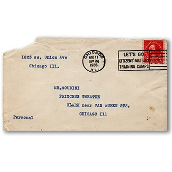 SOLD Houdini Envelope -  Old Chicago