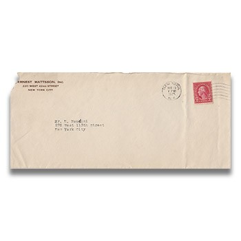 SOLD Houdini Envelope - from Motion Picture Distributor
