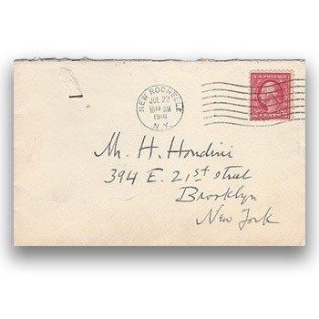 SOLD Houdini Envelope - Earl W. Mayo, Actor