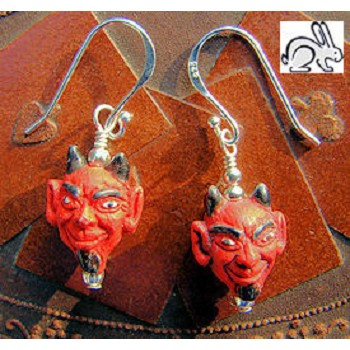 Red Devil Earrings