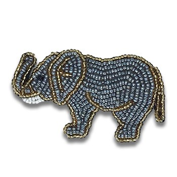 Beaded Elephant - Left Facing