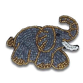 Beaded Elephant - Right Facing