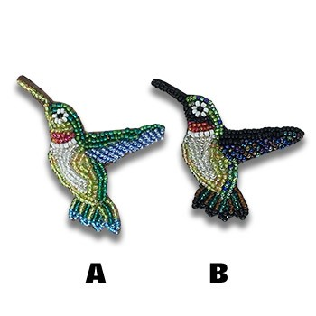 Beaded Hummingbird Pin