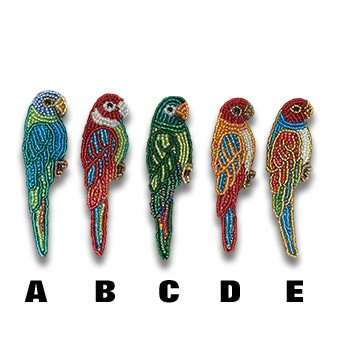 Beaded Parrot Pin