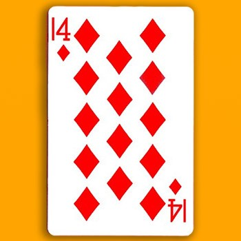 14 of Diamonds Card