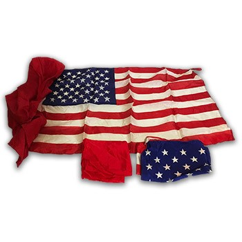 Rice 20th Century American Flag Set - VINTAGE