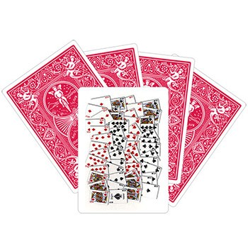 52 On One Card - RED Bicycle