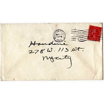 SOLD Houdini Envelope - Roosevelt Memorial Assn