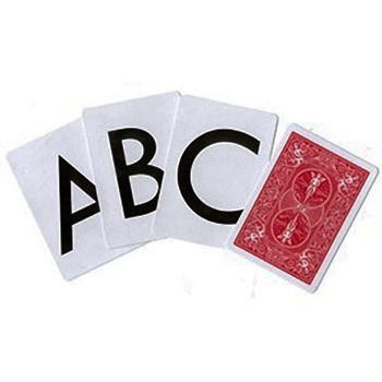 Alphabet Letters Card Deck - Bicycle
