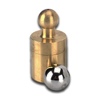Brass Apothecary Ball Thru Hand