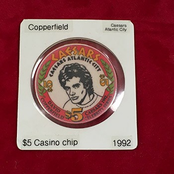 SOLD COPPERFIELD Caesar's Casino Chip *PREOWNED*