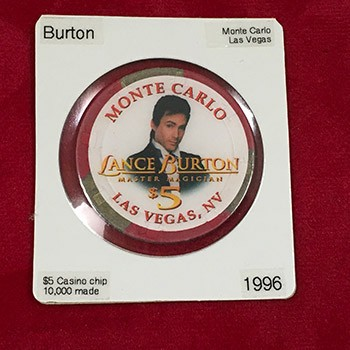 SOLD LANCE BURTON Monte Carlo Casino Chip *PREOWNED*