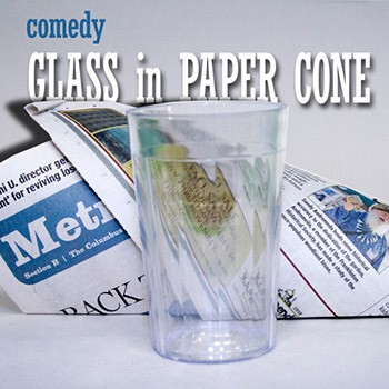 Comedy Water Glass In Cone