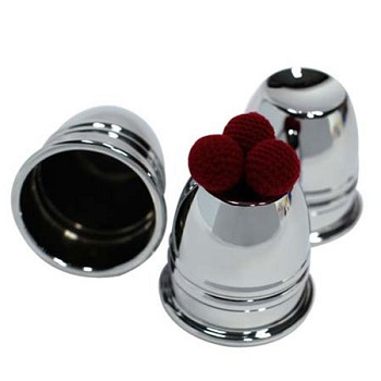 Cups and Balls Set - Deluxe Chrome