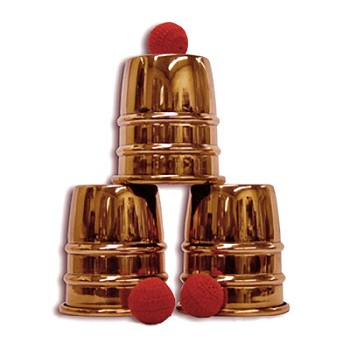 DISCONTINUED Cups and Balls Set - Jumbo Copper Finish